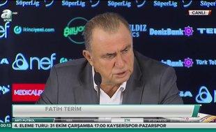 "Fatih Terim: ""Maça geldik zannetim ama..."""