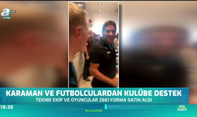 �nal Karaman ve futbolculardan kul羹be destek