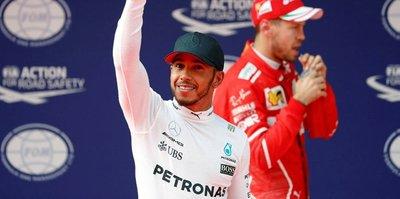 Çin'de pole pozisyonu Hamilton'ın