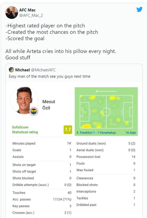 Fenerbahçeli Mesut Özil İngiltere'yi salladı! Arteta yastığında ağlark... 14