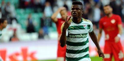 Bursaspor'da Mikel Agu sahalara döndü