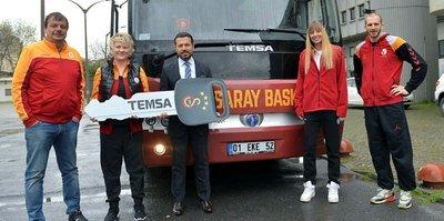 G.Saray yeni otobüsüne kavuştu