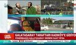 Galatasaray taraftarı stada hareket etti! İzleyin...
