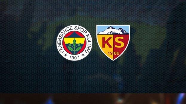 Fenerbahçe Kayserispor maçı CANLI #