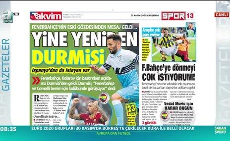 Fenerbahçe'de Durmisi sesleri!