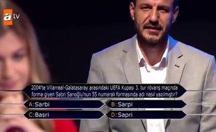 Kim Milyoner Olmak İster'de Sabri Sarıoğlu sorusu geceye damga vurdu!