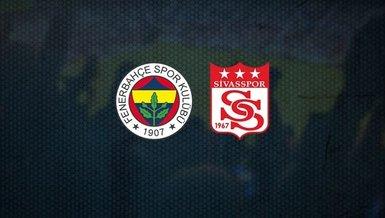 Fenerbahçe-Sivasspor maçı ne zaman, saat kaçta ve hangi kanalda CANLI yayınlanacak? Muhtemel 11'de hangi oyuncular var?