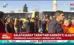 Galatasaray taraftarı Kadıköy'e ulaştı!