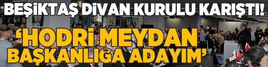 """Beşiktaş karıştı! """"Başkanlığa adayım, hodri meydan"""" dedi..."""