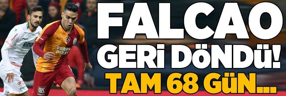 Radamel Falcao 68 gün sonra sahada