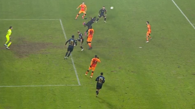 Here is the position Galatasaray waits for a penalty!  #