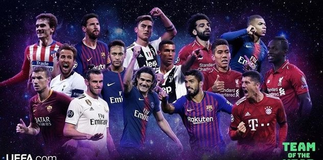UEFA nominates 50 players for team of year