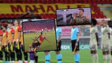 Göztepe - Fenerbahçe maçına penaltı kararları damga vurdu! Serdar Aziz...