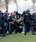 Barcelona Lyon maçı öncesi kavga! 5 gözaltı...