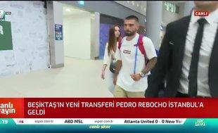 Beşiktaş'ın yeni transferi Pedro Rebocho İstanbul'a geldi