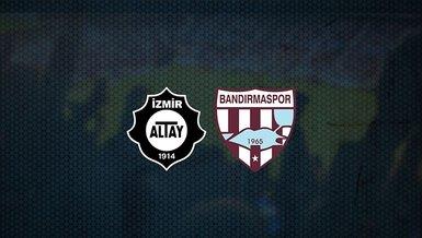 Altay - Bandırmaspor maçı ne zaman, saat kaçta ve hangi kanalda canlı yayınlanacak?   TFF 1. Lig