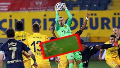 Ankaragücü Fenerbahçe maçında kader anı! Şutu çizgiden çıkardı