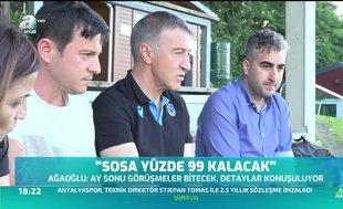 Ahmet Ağaoğlu: Jose Sosa yüzde 99 kalacak