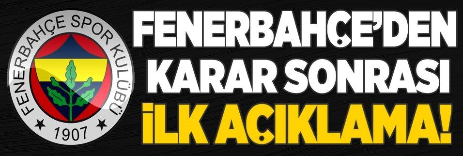 Fenerbahçe'den TFF'nin karanına yönelik ilk açıklama