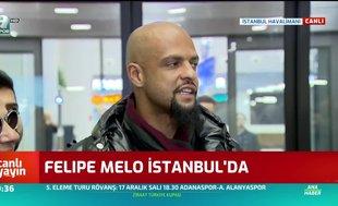 Felipe Melo İstanbul'da! İşte ilk sözleri...