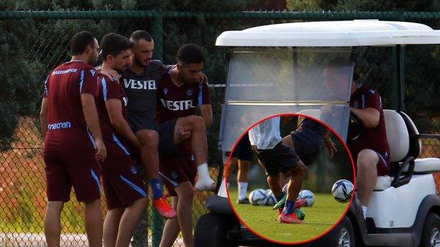 Son dakika TS haberi: Trabzonspor'da Faruk Can Genç sakatlandı! İşte o görüntüler...