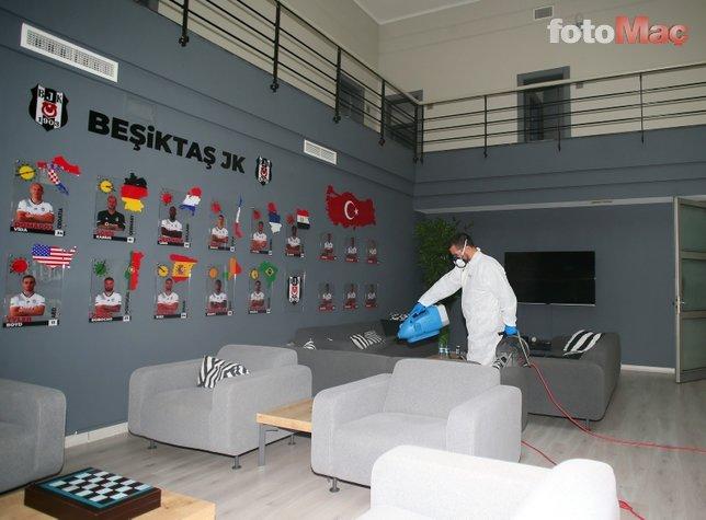 Beşiktaş'ta koronavirüs alarmı! Tesisler böyle dezenfekte edildi