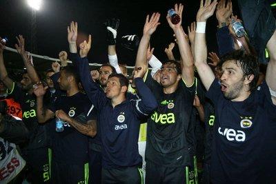 Fenerbahçenin maç sonu sevinci