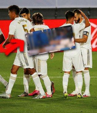 Real Madrid maçına damga vuran kare! Gareth Bale tribünde uyudu