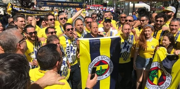 Fenerbahçe ve Zalgiris taraftarları Belgrad'ı inletti
