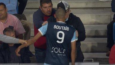 Son dakika: Süper Lig'in eski yıldızı Khalid Boutaib taraftarın üzerine yürüdü!
