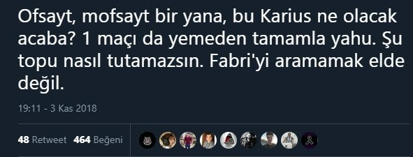 Beşiktaş taraftarının Karius tepkisi!