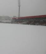 Boluspor-Galatasaray maçının stadı karla kaplandı