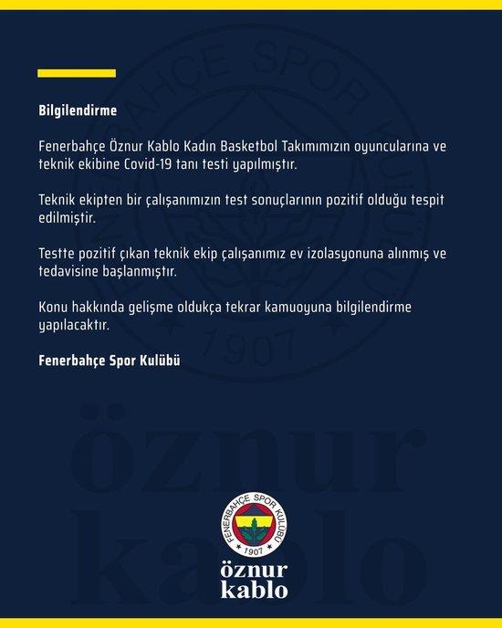 fenerbahcede corona virusu kabusu suruyor bir vaka daha 1598286316210 - Fenerbahçe'de corona virüsü kabusu sürüyor! Bir vaka daha...
