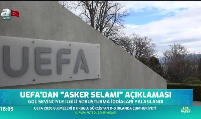 UEFA'dan 'asker selamı' açıklaması