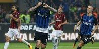 Milano derbisinde gülen Inter