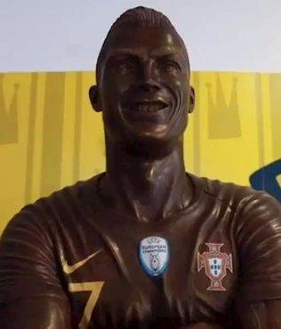 Çikolatadan Ronaldo yaptı
