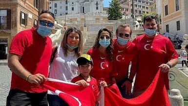 İtalya'nın başkenti Roma'da 'Türkiye' tezahüratları