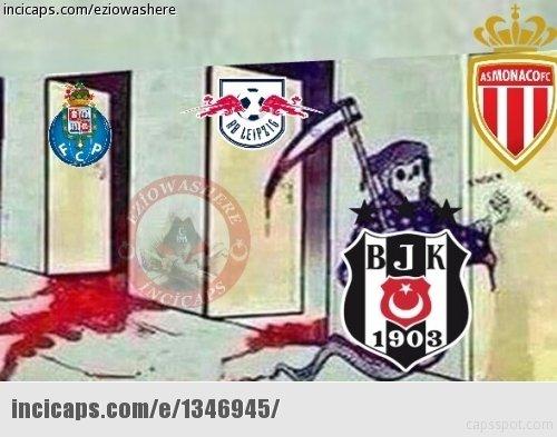 Beşiktaş-Leipzig maçı capsleri