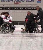 Vali tekerlekli sandalyede curling oynadı
