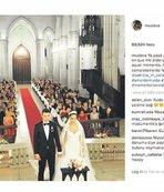 Düğün fotoğrafını paylaştı!