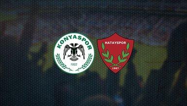 Konyaspor Hatayspor maçı CANLI anlatım