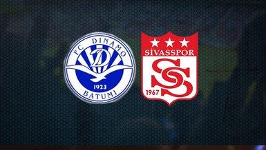 Dinamo Batumi-Sivasspor maçı ne zaman, saat kaçta, hangi kanaldan canlı yayınlanacak?   UEFA Avrupa Konferans Ligi