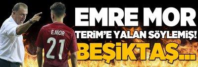 Emre Mor Terim'e yalan söylemiş! Beşiktaş...