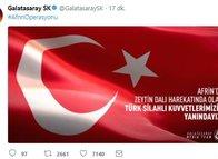 """Futbol kulüplerinden """"Zeytin Dalı"""" Harekatı'na katılan Mehmetçiklerimize destek"""