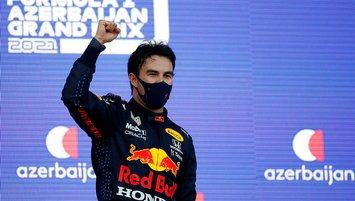 Formula 1'de zafer Sergio Perez'in!