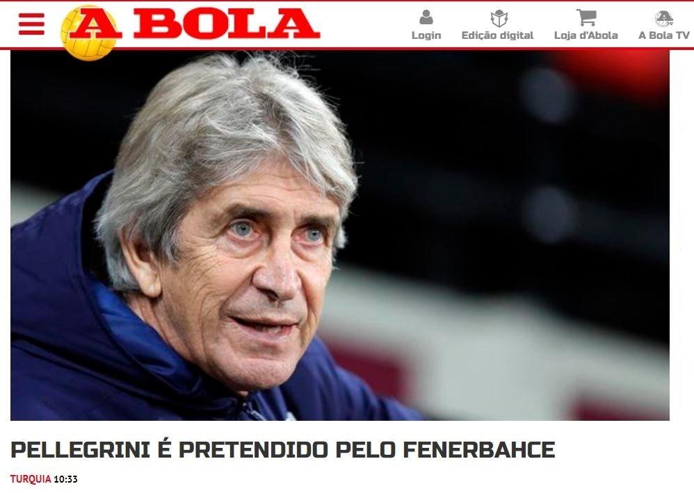 fenerbahceye pellegrinide rakip cikti 1593340997283 - Fenerbahçe'ye Pellegrini'de rakip çıktı!