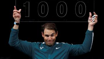 Rafael Nadal 1000'ler kulübünde!