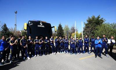 Fenerbahçe yeni otobüsünü basına tanıttı