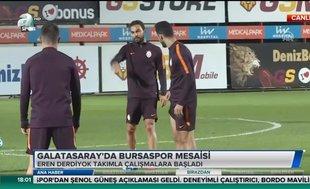 Galatasaray'da Bursaspor mesaisi