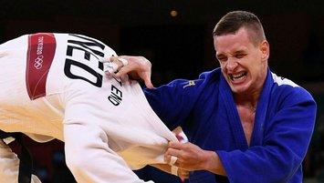 Milli judocu Zgank Tokyo'da yarı finalde!